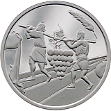 Pamětní stříbrná mince, 2NIS Dvanáct zvědů 2019 proof