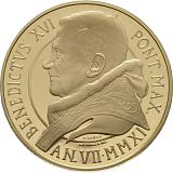 """Pamětní zlatá mince, 50EUR Pontifikát Benedikta XVI. 2011 - Obnovení Pavlovy kaple """"Ukřižování svatého Petra"""""""