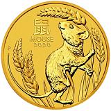 Investiční zlatá mince Lunární série - rok myši 100AUD 1 oz