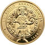 Pamätná zlatá minca, 50000HUF Vladislav I. 2020