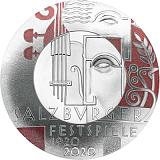 """Pamětní stříbrná mince, 20EUR """"Století Salcburského festivalu"""" proof"""
