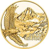 """Pamätná zlatá minca, 50EUR """"Poklady Álp - Alpské vrcholy"""" proof"""