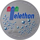 Pamätná strieborná minca, 5EUR 30. výročie založenia spoločnosti Telethon stand