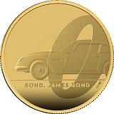 Pamätná zlatá minca, 25GBP 1/4 oz James Bond 2020 proof