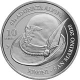 Pamätná minca, 10EUR 93. Národné zhromaždenie alpinistov v Rimini - San Maríno 2020 stand