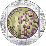 "Pamätná strieborná minca, 25EUR ""Big Data"" stand"