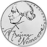 Pamětní stříbrná mince, 200Kč Božena Němcová stand