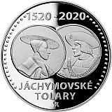 Pamětní stříbrná mince, 200Kč Zahájení ražby jáchymovských tolarů proof