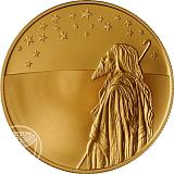 Pamätná zlatá minca, Abrahám hľadiaci ku hviezdam proof