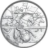"""Pamětní stříbrná mince, 10EUR """"Rytířské příběhy - Odvaha"""" proof"""