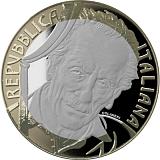 """Pamětní mince, 5EUR """"Série Velcí italští umělci - Eduardo De Filippo"""" proof"""