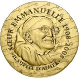 """Pamětní zlatá mince, 50EUR 1/4 oz 2020 """"Ženy Francie - Sestra Emmanuelle"""" proof"""