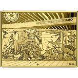 """Pamětní zlatá mince, 50EUR 1/4 oz 2020 """"Mistrovská díla muzeí - Guernica, Picasso"""" proof"""
