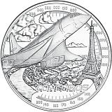 """Pamětní stříbrná mince, 20EUR """"Dosáhnout oblohy - Rychlejší než zvuk"""" proof"""