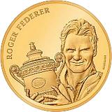 """Pamätná zlatá minca, 50CHF """"Roger Federer"""" proof"""