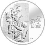 """Pamětní stříbrná mince, 20CHF """"150. výročí Asociace švýcarských hasičů"""" proof"""