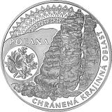 Pamětní stříbrná mince, 20EUR Chráněná krajinná oblast Poľana stand