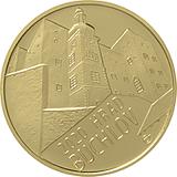 """Pamětní zlatá mince, 5000Kč Cyklus """"Hrady"""" Buchlov stand"""