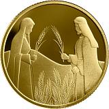 Pamětní zlatá mince, 10NIS Rút na Boazově poli 2020 proof