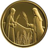 Pamětní zlatá mince, 1NIS Rút na Boazově poli 2020 proof
