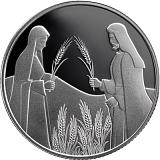 Pamětní stříbrná mince, 2NIS Rút na Boazově poli 2020 proof