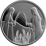 Pamětní stříbrná mince, 1NIS Rút na Boazově poli 2020 proof-like
