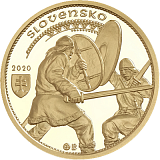 Pamětní zlatá mince, 100EUR Nitranský kníže Svatopluk II. proof