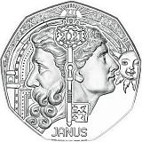 """Pamätná strieborná minca, 5EUR """"Novoročné mince 2021"""" stand"""