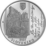 Pamětní stříbrná mince, 10EUR Janko Matúška - 200. výročí narození stand