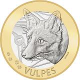 """Pamětní mince, 10CHF """"Švýcarská lesní zvířata - liška"""" stand"""