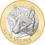 """Pamětní mince, 10CHF """"Liška"""" v sadě mincí 2021 stand"""