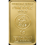 Investiční zlato, slitek Heimerle Meule 1 g