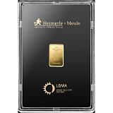 Investiční zlato, slitek Heimerle Meule 2,5 g