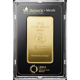 Investiční zlato, slitek Heimerle Meule 50 g