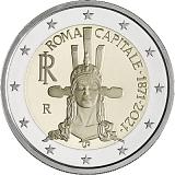 Pamätná minca, 2EUR 150. výročie Ríma ako hlavného mesta Talianska stand
