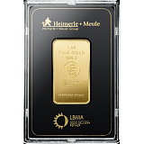 Investiční zlato, slitek Heimerle Meule 1 Oz