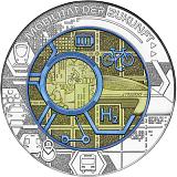 """Pamětní stříbrná mince, 25EUR """"Smart Mobility"""" stand"""