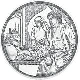 """Pamětní stříbrná mince, 10EUR """"Rytířské příběhy - Bratrství"""" stand"""