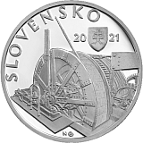 Pamětní stříbrná mince, 10EUR Uvedení do provozu podzemní vodní elektrárny v Kremnici - 100. výročí proof
