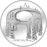 """Pamětní stříbrná mince, 20CHF """"Iluze - The Bridge of life"""" proof"""