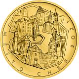 "Pamätná zlatá minca, 5000Kč Cyklus ""Mestské pamiatkové rezervácie"" Cheb stand"