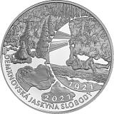 Pamětní stříbrná mince, 20EUR Objevení Demänovské jeskyně svobody - 100. výročí stand