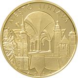 "Pamätná zlatá minca, 5000Kč Cyklus ""Mestské pamiatkové rezervácie"" Jihlava stand"