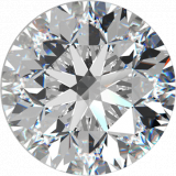 Diamant Round Brilliant, 0,50, D, VS2